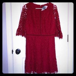NWT Beautiful Red Lace Dress